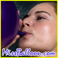 gina lorenz blowing balloons